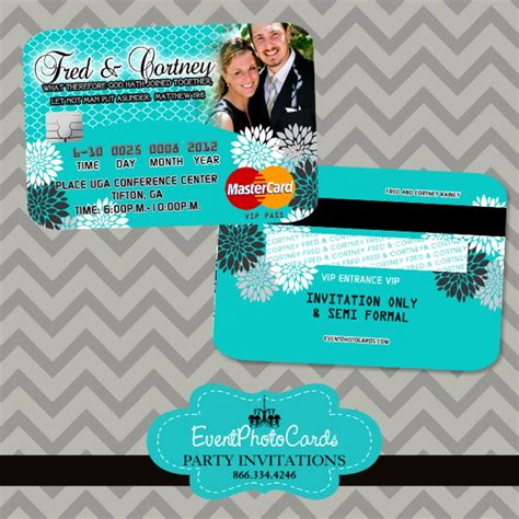 credit card wedding invitation template turquoise wedding invitations credit card invites