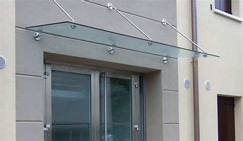 tettoie in vetro e acciaio pensiline in vetro e acciaio capottine in alluminio e