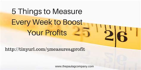 5 Mouthwatering Stuff To Start Your Week With by 5 Things To Measure To Boost Profits