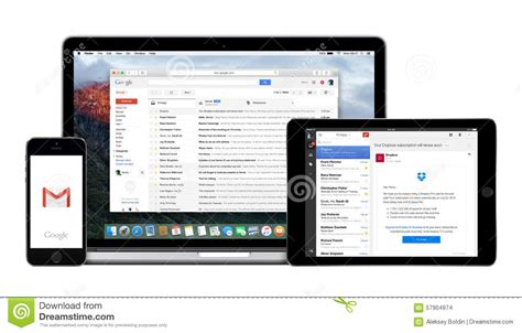 gmail desktop view on mobile gmail app on apple iphone and macbook pro
