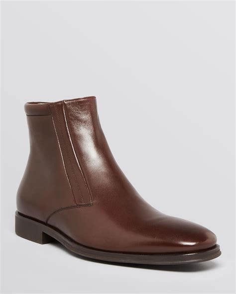 bruno magli raspino dress boots in brown for