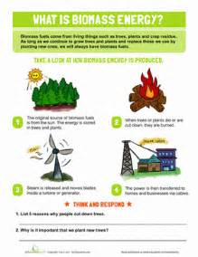 what is biomass energy worksheet education com