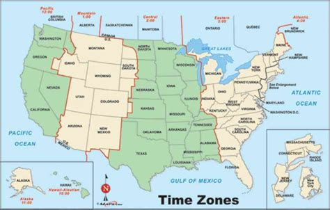 map us time zones geography us maps time zones