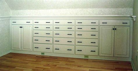 pic  drawers  cabinets  built    knee wall