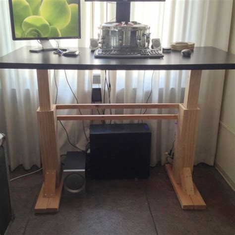 Adjustable Standing Desk Diy 17 Images About Diy Standing Desk On Standing Desks Adjustable Height Desk And 150 Lbs