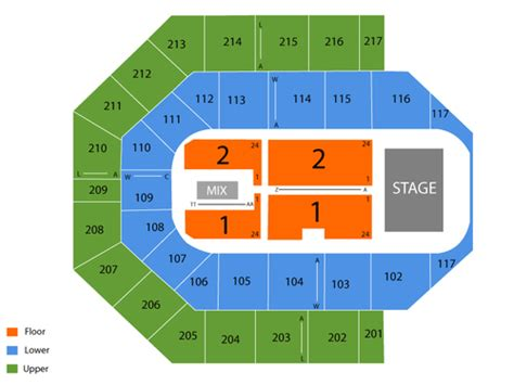 uic pavilion seating uic pavilion seating chart events in chicago il