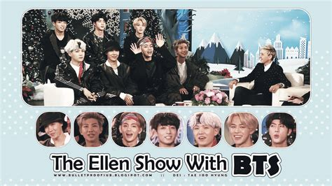 bts the ellen show bulletproof a r m y the ellen show with bts