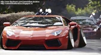 Stanced Lamborghini Car Bike Fanatics Modified Lamborghini Aventador With A