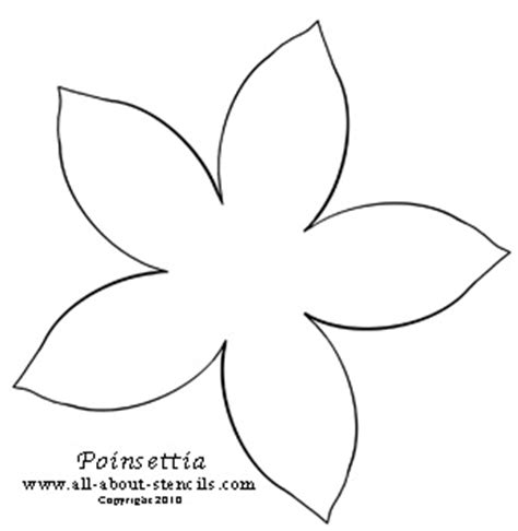 printable paper poinsettia pattern 7 best images of poinsettia stencil printable poinsettia