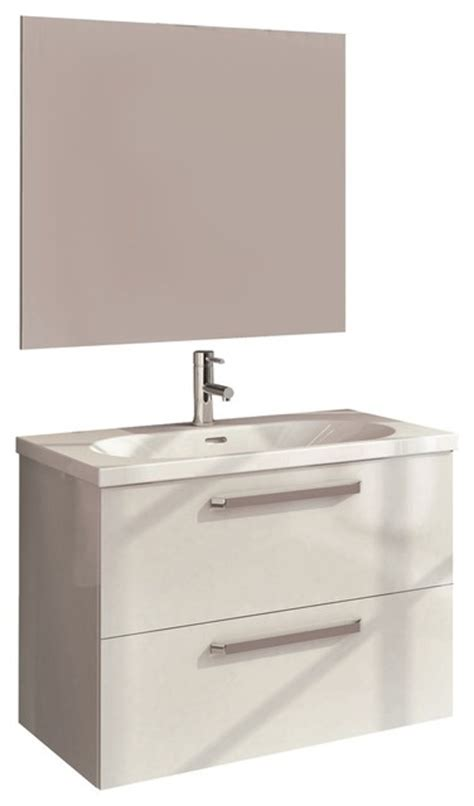 white floating bathroom vanity royo floating 2 drawer bathroom vanity set high gloss