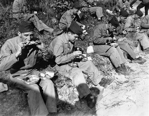 Infantry 031 Blk S 1941 1945 of us army during ww2 soldiers at roadside for thanksgiving day