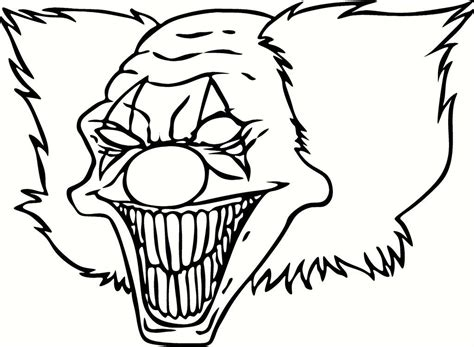 Scary Clown Printable Coloring Pages Coloring Home Scary Coloring Pages