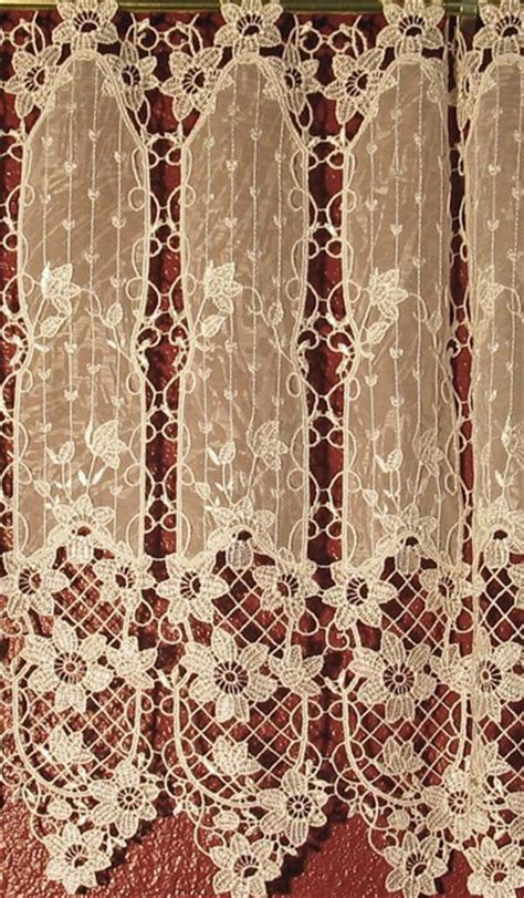 old world lace curtains macrame ring lace traditional curtains san diego