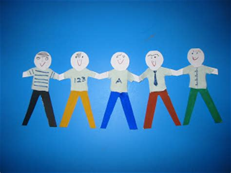 How To Make Paper Doll Chain - stories crafts