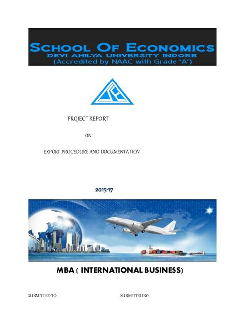 Mba International Business Project Reports Free by Project Report Abhi
