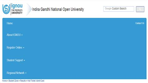 Ignou Distance Mba Admission 2017 by Ignou Ticket Admit Card June 2017 Released Ignou Ac