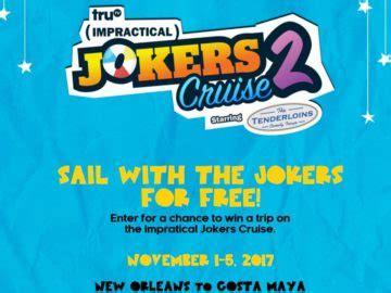 Impractical Jokers Cruise Sweepstakes - impractical jokers cruise sweepstakes