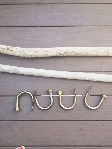 wildlife curtain rods rustic driftwood curtain rods home decor pinterest