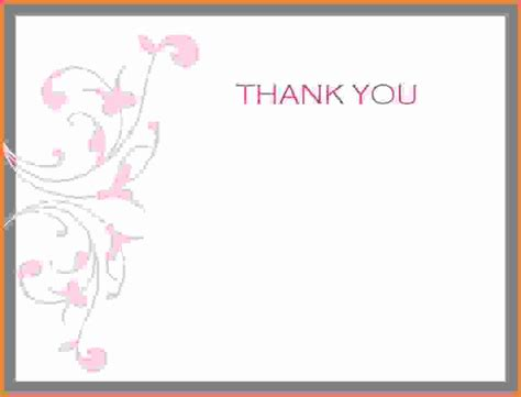 blank thank you card template thank you card template word feminine thank you card