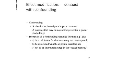Modification Effect by 4 4 Effect Modification