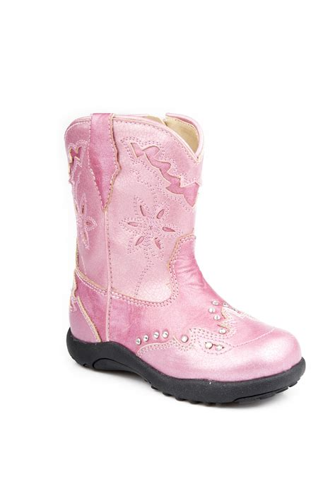 pink boots for nib roper infant cowboy boots pink faux leather