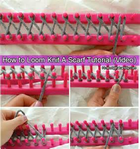 Diy Home Improvement Hacks How To Loom Knit Scarf Tutorial Video