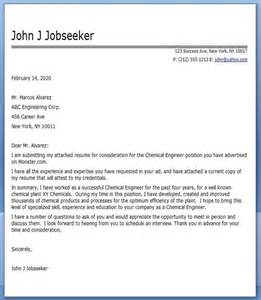 cover letter for site engineer chemical engineering cover letter college