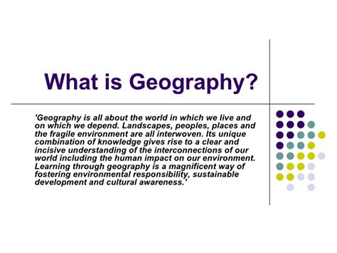 What Is In by What Is Geography