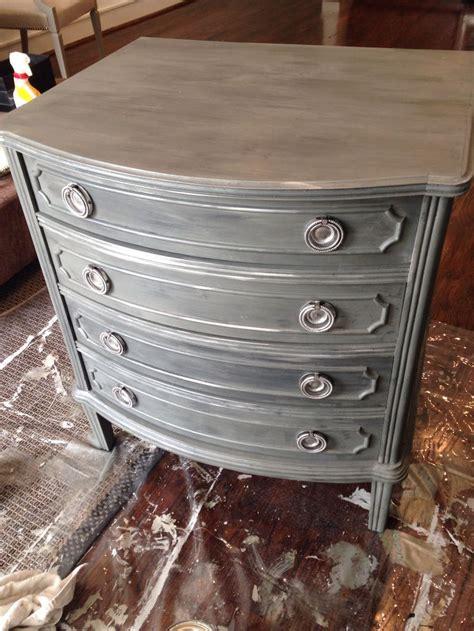 diy graphite chalk paint zinc finish restoration hardware style made with