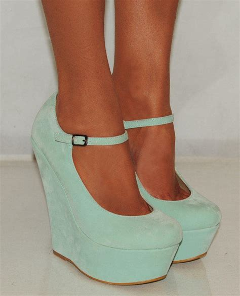 mint green high heel shoes suede mint green blue from saffron109 on ebay