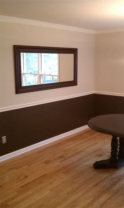 a new room brown trim dark brown and paint walls