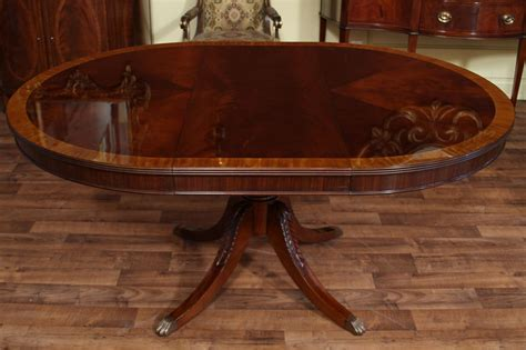 Antique Mahogany Dining Table 48 Quot To 66 Quot Oval Mahogany Dining Table Reproduction Antique Dining Room Ebay