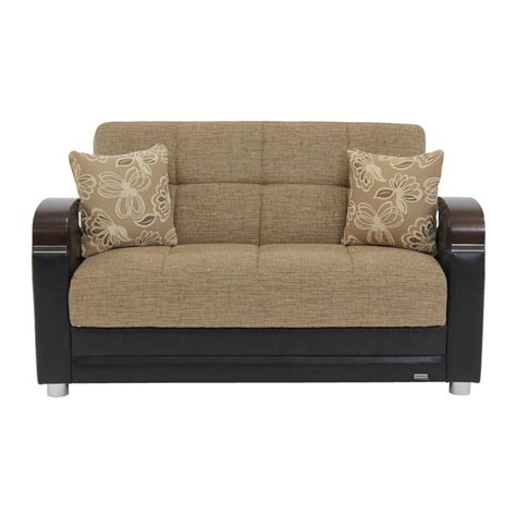 tan futon peron tan futon loveseat el dorado furniture