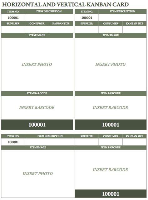 kanban replenishment card template free kanban card templates smartsheet