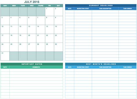Marketing Calendar Excel Template Calendar Template Excel Marketing Schedule Template