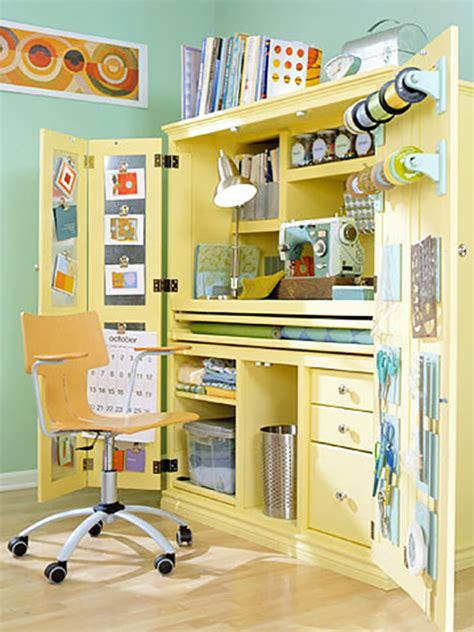 Sewing Closet by 15 Small Sewing Spaces That Inspire