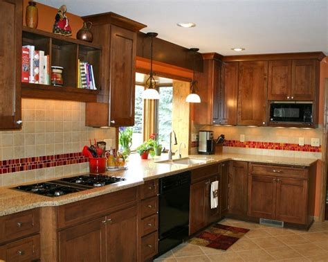 red kitchen backsplash love the red tile backsplash accent kitchens