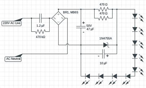 5 watt led driver circuit diagram 3 watt 5 watt led dc to dc constant current driver