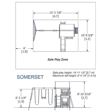 dimensions of a swing set somerset wooden swing set playsets backyard discovery