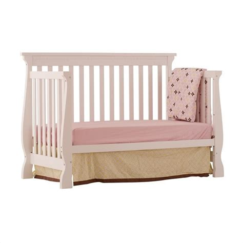 Crib Side by 4 In 1 Fixed Side Convertible Crib In White 04587 131