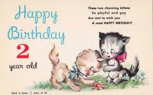 Happy Birthday Quotes For 2 Year Sweet Unused Happy Birthday Two Year Old Postcard W Bible