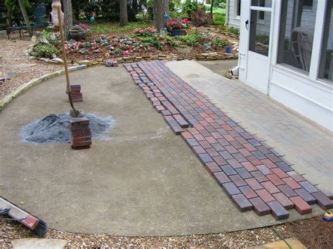 Installing Concrete Patio by Hometalk Installing Pavers Your Existing Patio Is A