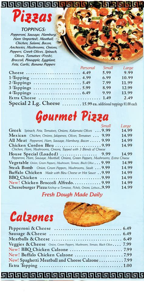 Lewiston House Of Pizza Lewiston Maine Restaurant Menu Menusinla Lewiston Auburn