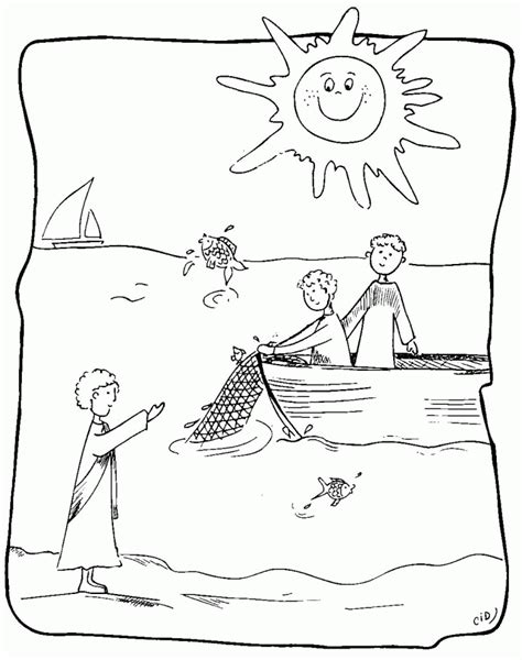 coloring pages jesus appears to the disciples disciples of jesus coloring pages jesus calls his