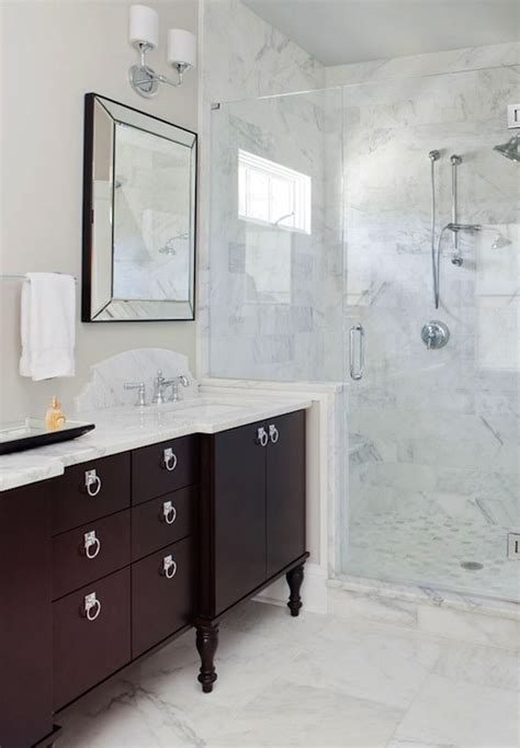 espresso double bathroom vanity design ideas