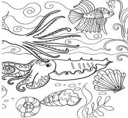 the sea coloring pages free fish the sea coloring pages