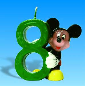 mickey mouse numbered candles