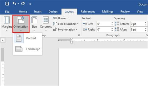 change layout to landscape in numbers set page margins and change page orientation in microsoft