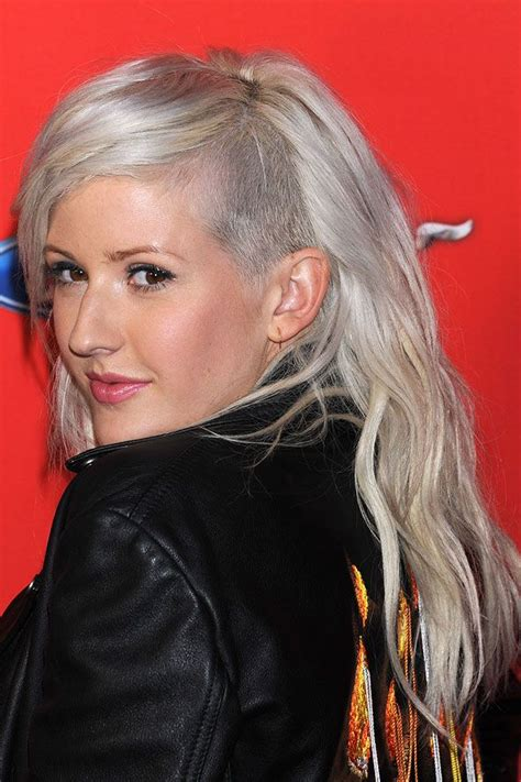 shaver hair styles ellie goulding s shaved style her hair side shave and