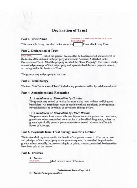 Howto Texas Trust And Atf Nfa Form 1 Pictures Ar15 Com Nfa Trust Template